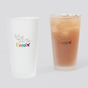 COEXIST DOVE Drinking Glass